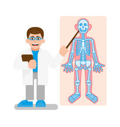 Doctor show on x-ray photo vector
