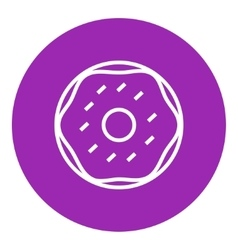 Doughnut line icon vector