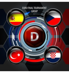 European Flag Buttons D vector