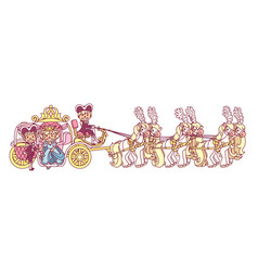 flat cinderella carriage vector image