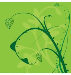 floral twirl design vector image