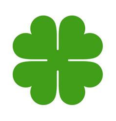 Four leaf clover icon saint patrick symbol vector