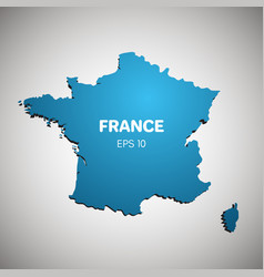 France map blue color vector