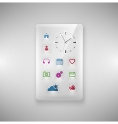 Glass phone vector image