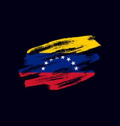 grunge textured venezuealan flag vector image