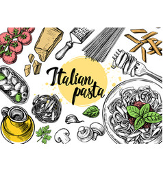 Hand drawn outline food vector