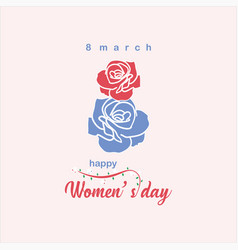 Happy womens day template design vector