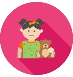Holding Teddy Bear vector