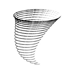 icon cyclone tornadoes in linear flat style vector image