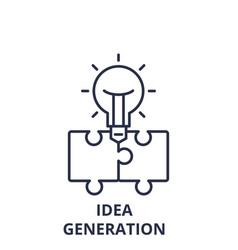 idea generation line icon concept idea generation vector image