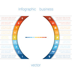 Infographic strips and semicircle 9 vector