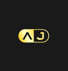 Initial letter aj logo template design vector