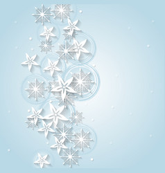 Light blue Christmas background with winter vector