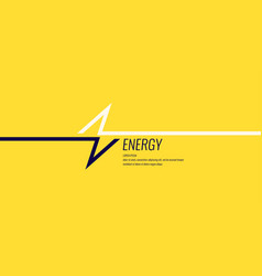 linear image lightning on a flat yellow vector image