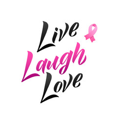 Live laugh love hand drawn lettering vector