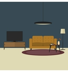 Living room concept in flat style vector