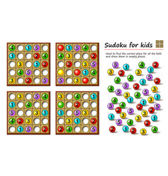 Logical puzzle game for children and adults vector