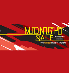 midnight sale hottest deal wide banner vector image