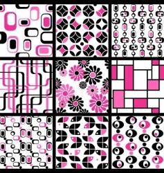 Modern seamless patterns vector