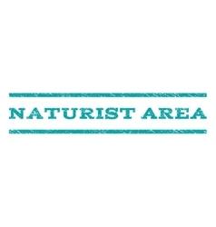 Naturist Area Watermark Stamp vector image