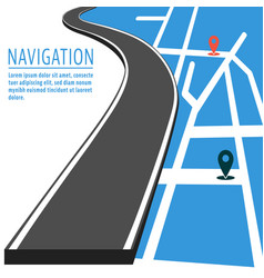 Navigation with pin pointer vector