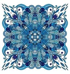 Ornamental doodle floral pattern design for vector