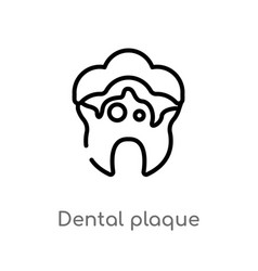 Outline dental plaque icon isolated black simple vector