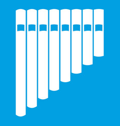 Pan flute icon white vector