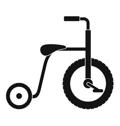 plastic tricycle icon simple style vector image