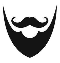 pointing beard icon simple style vector image