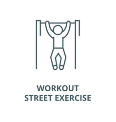 pull up workout street exercise line icon vector image