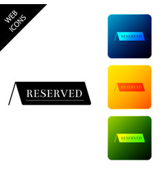 reserved icon isolated on white background set vector image