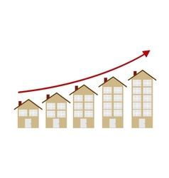 Rising Housing Market Concept vector