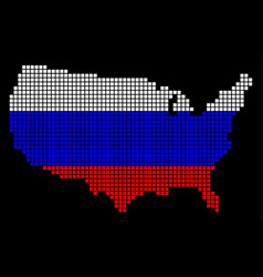 russia colors dot usa map vector image