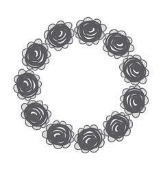 rustic emblem roses design vector image