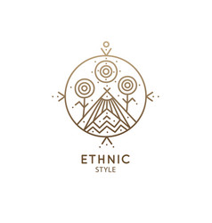 Sacred geometric symbol vector