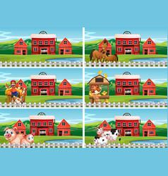 set farmland landscape vector image
