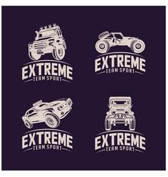 Set off-road car logo design off-road extreme vector