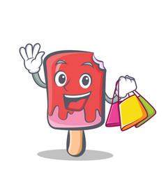 Shopping ice cream character cartoon vector