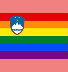 Slovenia gay flag or lgbt vector