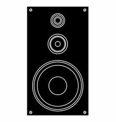 sound box vector image