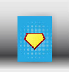 Superman poster and brochure design vector