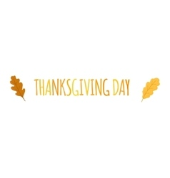 Thanksgiving text vector image