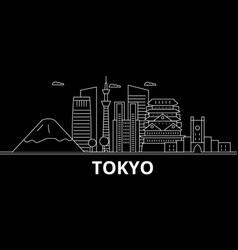 Tokyo silhouette skyline japan - tokyo vector
