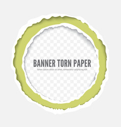 torn paper frame template vector image