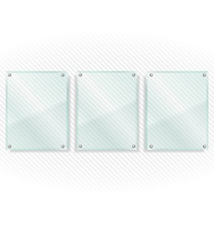 Transparent Glass Frames vector image