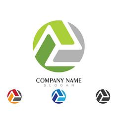 Triangle logo template vector