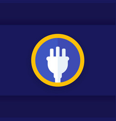 Uk electrical plug icon logo vector