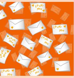 Valentines day envelope vector