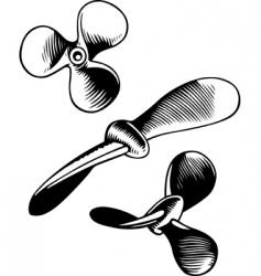 Vector screw propeller vector
